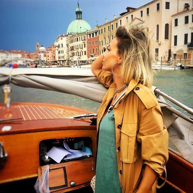 Atriz esteve em Veneza