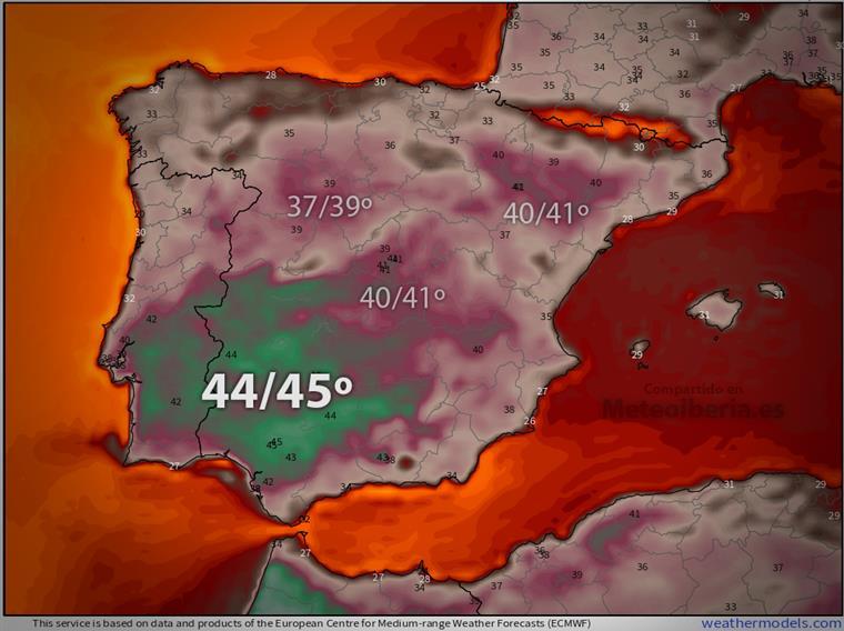 Toda a Península Ibérica será afetada pelo calor extremo