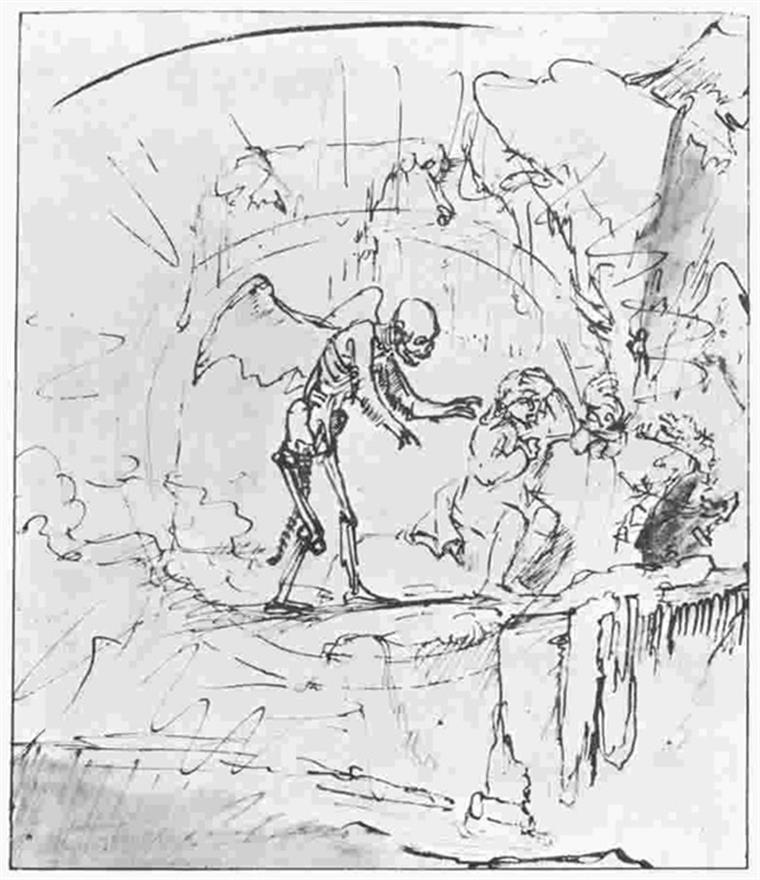 Tentação de Cristo pelo Demónio (1645-1649; Kupferstichkabinett, Berlim)