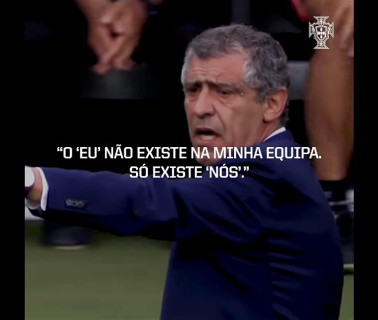 Fernando Santos homenageado por jogadores da Seleção Nacional