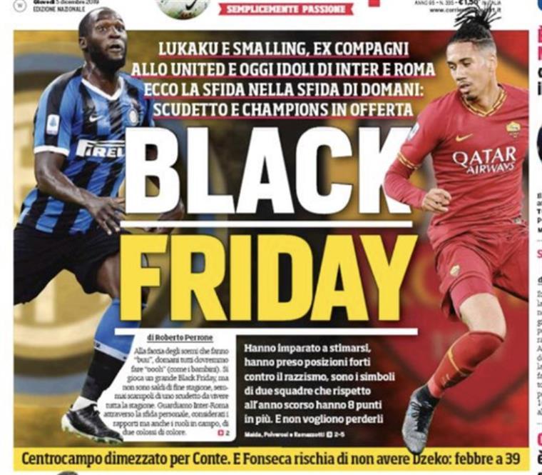 Lukaku e Smalling reagem à manchete polémica do Corriere dello Sport