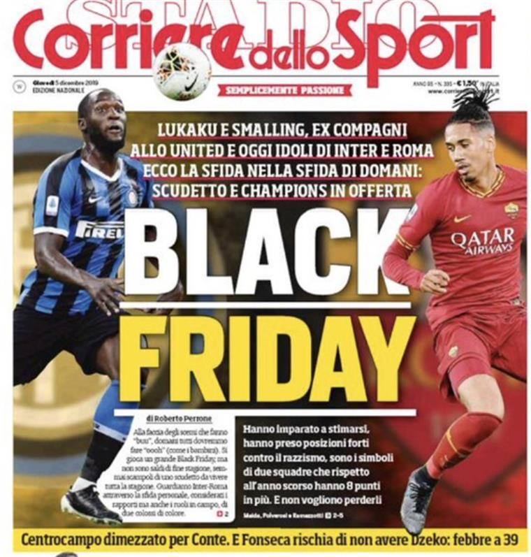 Após manchete polémica, Roma e AC Milan cortam relações com jornal italiano