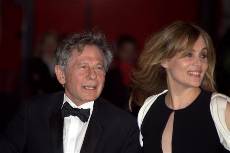 Roman Polanski e a sua esposa Emmanuelle Seigner nos Césares em 2011