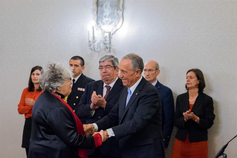 Maria de Sousa foi homenageada por Marcelo Rebelo de Sousa em 2016